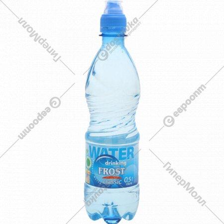 Питьевая вода «Фрост» негазированная, 0.5 л.