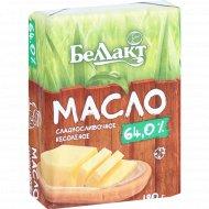Масло сладкосливочное «Беллакт» несоленое 64%, 180 г.