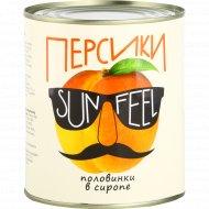 Консервы фруктовые «Персики» половинки в сиропе, 850 мл.