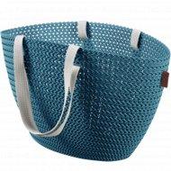 Корзина «Curver» emily cozy bag, 230284, синий, 23 л, 500х240х300 мм.