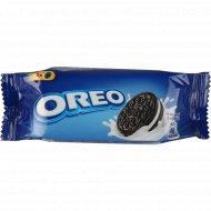 Печенье «Oreo» с какао и кремовой начинкой ванильного вкуса, 38 г.