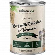 Консерва для котов «Чикопи» с говядиной, курицей и олениной, 400 г