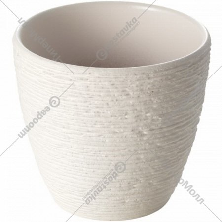 Горшок цветочный «Скакинг» белый, 10 см