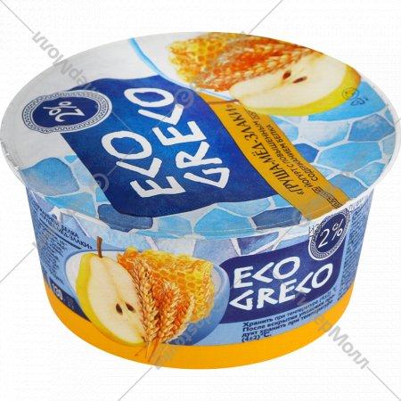 Йогурт «Eco greco» груша-мед-злаки, 2%, 130 г.