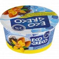 Йогурт «Eco greco» миндаль-ваниль-чиа, 2%, 130 г.