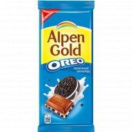 Шоколад молочный «Alpen Gold» с печеньем орео, 95 г.