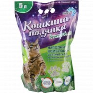 Наполнитель для кошачьего туалета «Кошкина полянка» Зелёный лес, 5 л.