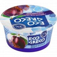 Йогурт «Eco greco» чернослив-лен, 2%, 130 г.