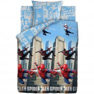 Комплект постельного белья «Человек Паук Neon» Городские герои, 70х70
