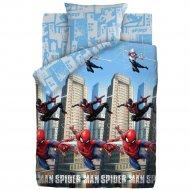 Комплект постельного белья «Человек Паук Neon» Городские герои, 50х70