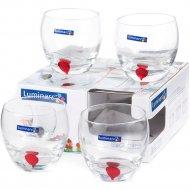 Набор стаканов «Luminarc» Drip red, E5171, 4 шт, 310 мл