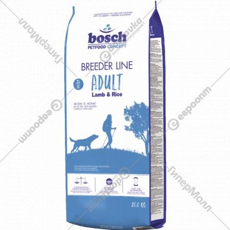 Корм для собак «Бош Бридер» ягненок с рисом, 20 кг.