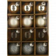 Набор стеклянных шаров, ABR510210, 4 см, 12 шт.
