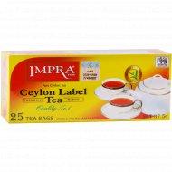 Чай черный «Impra» цейлонский, 25 пакетиков.