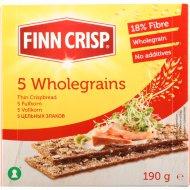 Сухарики «Finn Crisp» 5 злаков, 190 г.