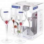 Набор бокалов для вина «Luminarc» Drip red, 4 шт, 270 мл