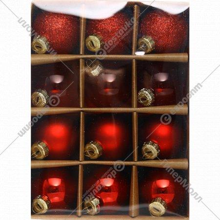 Набор стеклянных шаров, ABR510220, 12 шт.