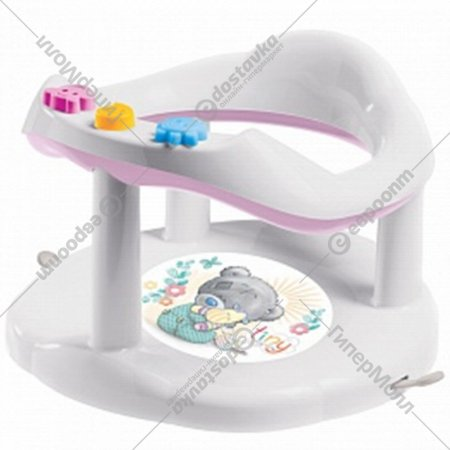 Сиденье для купания детей с аппликацией, розовый.