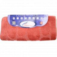 Набор ковриков для ванной комнаты, 60x100+60x50 см, коралловый.