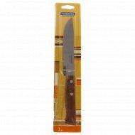 Нож металлический для мяса с деревянной ручкой, 27 x 15 см.