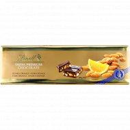 Тёмный шоколад «Lindt» с апельсином и миндалем, 300 г.