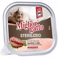 Ламистеры «Miglior» для кошек, с лососью и рисом, 100 г.