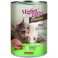 Паштет «Miglior gatto sterilized» с кроликом, 400 г.