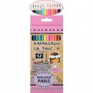 Карандаши цветные «Bonjour Paris» 12 цветов.