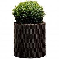 Кашпо «Keter Group» напольное Cylinder Planter L, коричневый