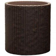 Кашпо «Keter Group» напольное Cylinder Planter M, коричневый