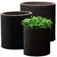 Набор кашпо «Keter Group» S+M+L Cylinder Planter JRDBRW-EE STD CU