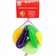 Игрушка пластмассовая «Овощное раздолье» 6 предметов.
