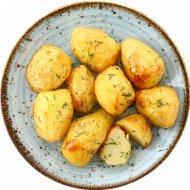 Картофель печеный с зеленью, готовый, замороженный, 200 г.