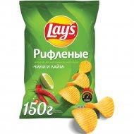 Картофельные чипсы Lay's Чили Лайм, 150г