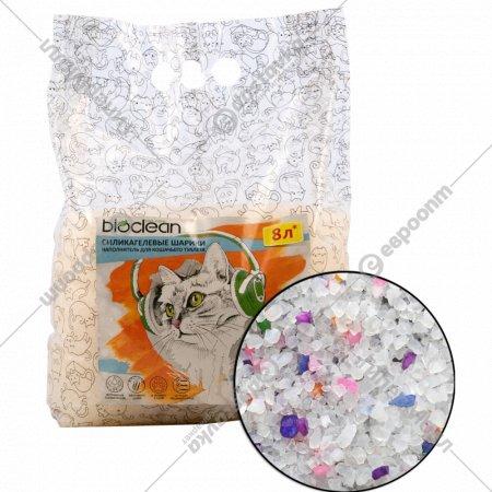 Наполнитель для кошачьего туалета «Bioclean» силикагелевый, 12 л.