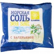 Соль косметическая «Sunmarin» морская c валерьяной, 1 кг.