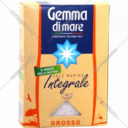 Морская соль «Gemma Di Mare Integrale» крупная, 1 кг.