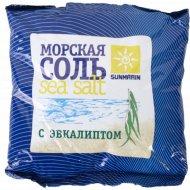 Соль косметическая «Sunmarin» морская с эвколиптом, 1 кг.