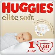 Детские подгузники «Huggies» Elite Soft (1) Jumbo 3-5 кг, 50 шт.
