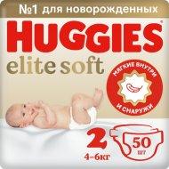 Детские подгузники «Huggies» Elite Soft (2) Jumbo 4-6 кг, 50 шт.