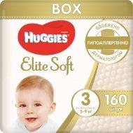 Детские подгузники «Huggies» Elite Soft Box размер 3, 5-9 кг, 160 шт