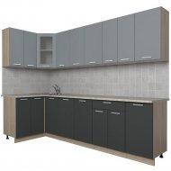 Готовая кухня «Интерлиния» Мила 12х28, серебро/антрацит