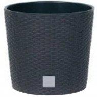 Горшок «Prosperplast» пластиковый Flower pot Rato square – Anthracite