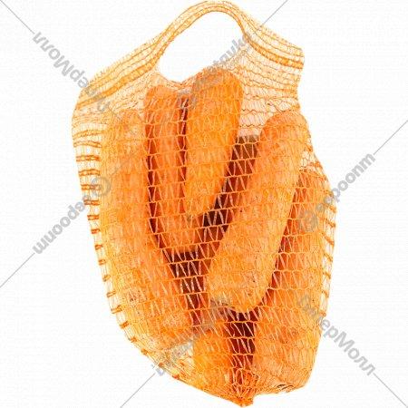 Морковь продовольственная мытая, 1 кг., фасовка 1.3-1.7 кг
