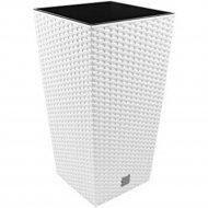 Горшок «Prosperplast» пластиковый Flower pot Rato square – White