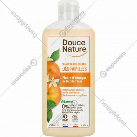 Шампунь органический «Douce Nature» апельсиновые цветы, 250 мл.