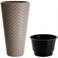 Горшок «Prosperplast» пластиковый Flower pot Matuba Slim - Mocca