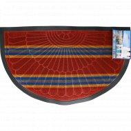 Коврик придверный «Lux Multicolor» 45x75 см, полукруглый, бордовый.