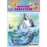 Карточки развивающие «Морские обитатели».