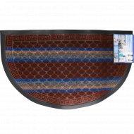 Коврик придверный «Lux Multicolor» 45x75 см, полукруглый, шоколадный.